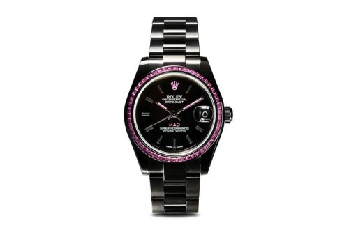MAD Paris Gives The Rolex Datejust 31 a Black Makeover Dominated by Pink Sapphires