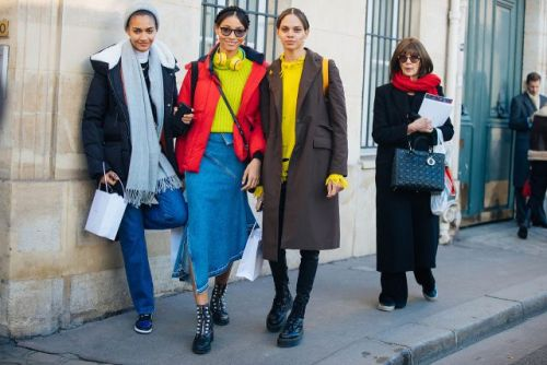 See what the models are wearing off-duty during Couture Week! Day 1