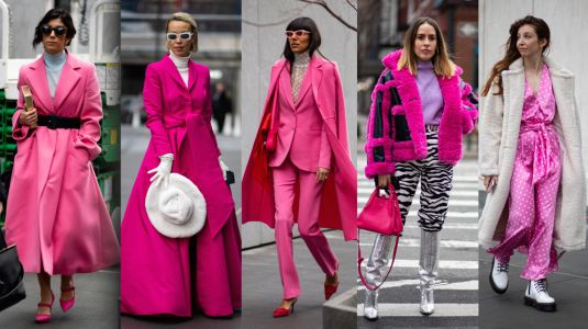 Bright Pink Was a Street-Style Hit on Day 4 of New York Fashion Week