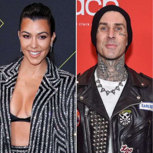 How Kourtney Kardashian and Travis Barker Moved Out of the 'Friend-Zone': 'He's Over the Moon'