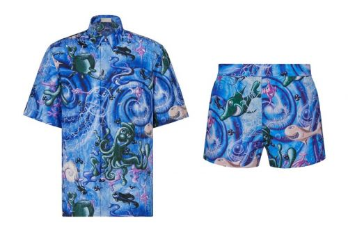 Sunbathe in Style With Dior and Kenny Scharf's Artistic Swimwear