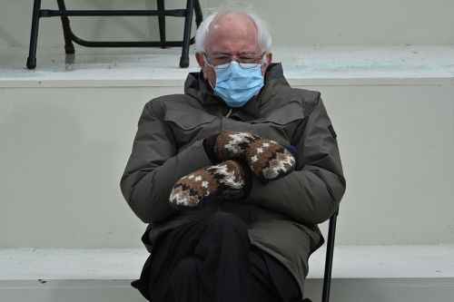 You Can Now Buy Bernie Sanders' Viral Inauguration-Stealing Mittens