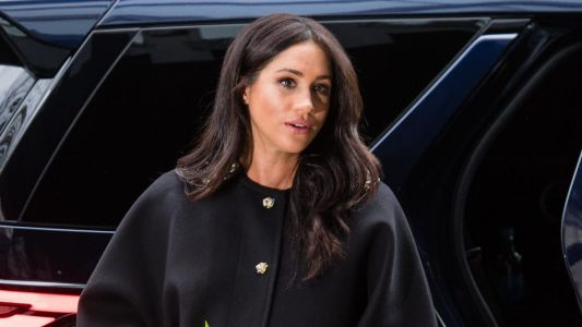 Meghan Markle Wore a Thing: La Ligne Printed Dress Edition