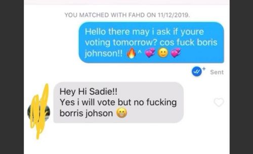 A bot on Tinder is chatting people up to help Labour in marginal seats
