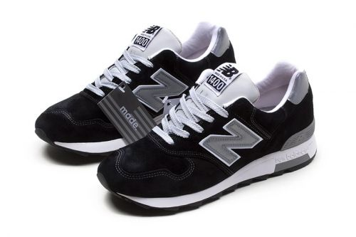 New Balance 1400 Surfaces With a Simple Black and Grey Presentation