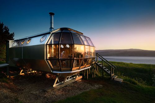 Roderick James Architects Design The Airship002 in The Highlands of Drimnin, Scotland