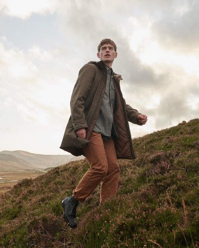 Bo Embraces Rugged Style in Barbour Tartan Fall '20 Collection