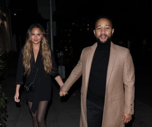Chrissy Teigen and John Legend Hold Hands After Enjoying a Romantic Dinner in Beverly Hills