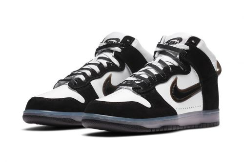 """Official Images of the Slam Jam x Nike Dunk High """"Clear Black"""""""