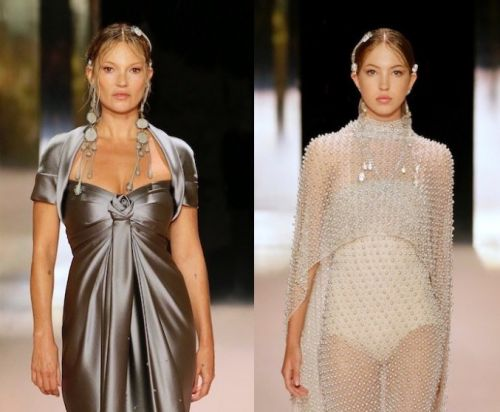 Kate Moss and daughter Lila walk the Fendi runway together