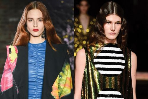 Crimped Hairstyles Set Off the Season's Most Interesting Ripple Effect