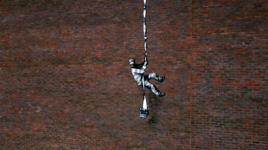 Banksy shares a behind-the-scenes look at his latest artwork