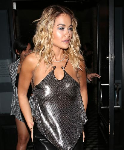 Rita Ora Rocks Sheer Top and Leather Skirt While Out in West Hollywood