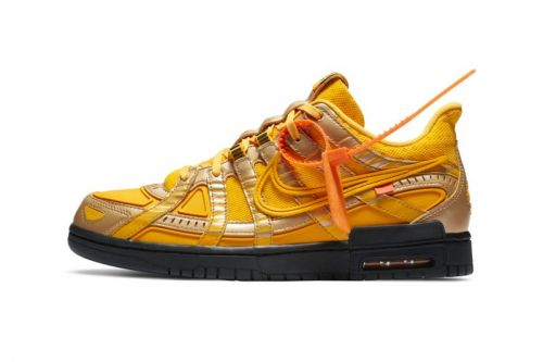 """Take an Official Look at the Off-White™ x Nike Air Rubber Dunk """"University Gold"""""""
