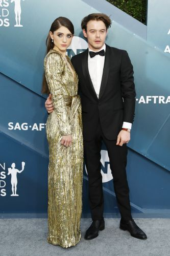 Stranger Things' Natalia Dyer and Charlie Heaton Had a Cute 'Couple's Moment' at the 2020 SAG Awards
