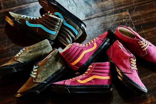 Vans Vault Swathes This Chukka Boot LX and Sk8-Hi LX Collection with Colorful Suede Uppers