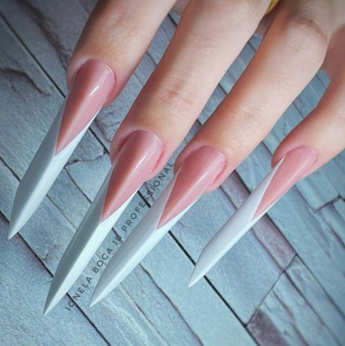 Over Stiletto Nails? Edge Nails Are The Bold Shape That's Trending Right Now