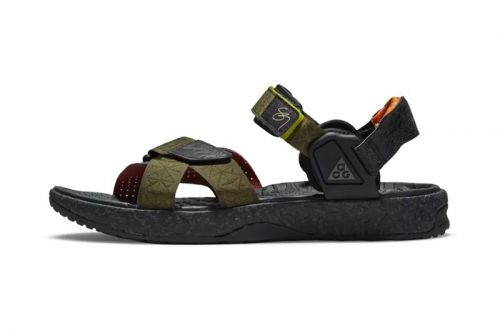 """Latest Sig Zane x Nike ACG Air Deschutz Sandals """"Olive Canvas"""" Are Fit For Adventures All Summer Long"""