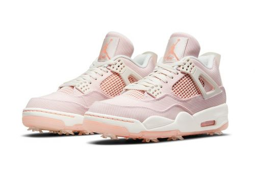 """Spruce Up Your Fairway Fits With the Air Jordan 4 G NRG """"Sail/Apricot Agate"""""""