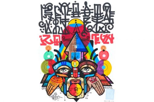 "Graffiti Pioneer RAS TERMS Launches ""Ancient Futurism"" Solo Exhibition"