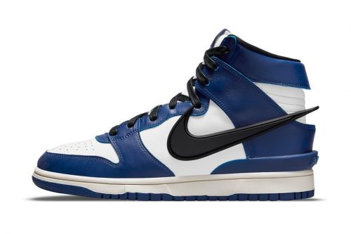 "Official Images of the AMBUSH x Nike Dunk High ""Deep Royal Blue"""