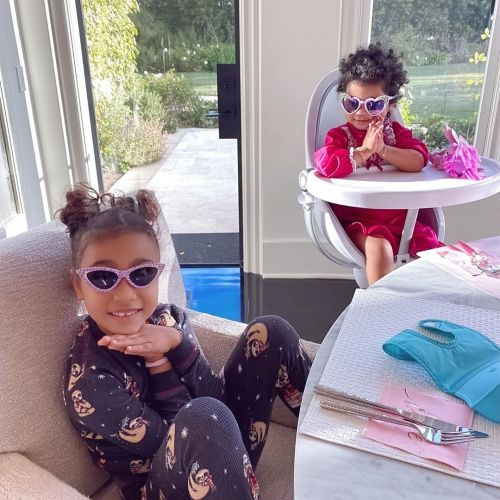 Khloe Kardashian Has a 'Grateful Heart' While Spending the Morning With North West and True Thompson