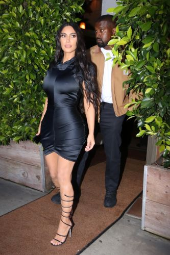 Sexy Mama! Kim Kardashian Wears a Skintight Dress While Grabbing Dinner With Kanye West