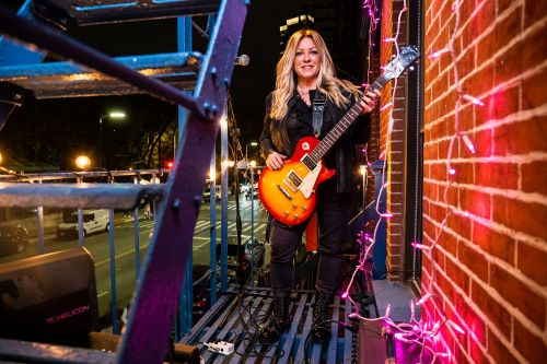 How this NYC guitarist turned her fire escape into a wild music venue