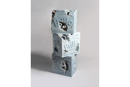 Daniel Arsham's 'Eroded Brillo Boxes' Pay Homage to Andy Warhol