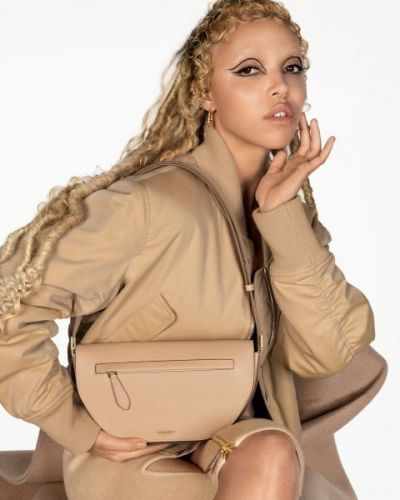 FKA twigs, Shygirl, and their bleached brows model Burberry's new it-bag