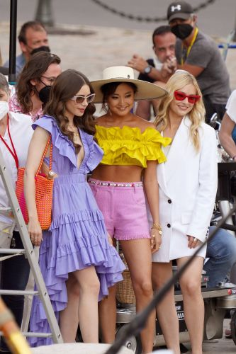 'Emily in Paris' Films Season 2 on Location in St. Tropez: Photos of Lily Collins and More!