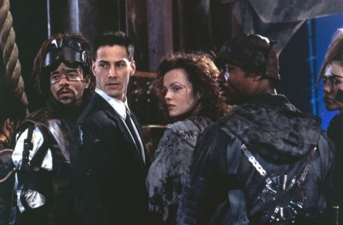 The 90s Keanu Reeves cyberpunk film connecting Blade Runner to The Matrix