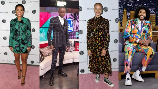 Bold Patterns Ruled Celebrities' Wardrobes This Week